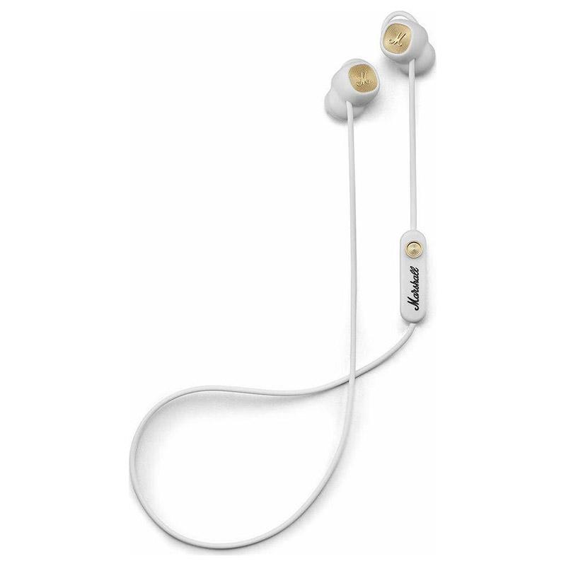 Ασύρματα bluetooth ακουστικά Marshall Minor II σε λευκό χρώμα