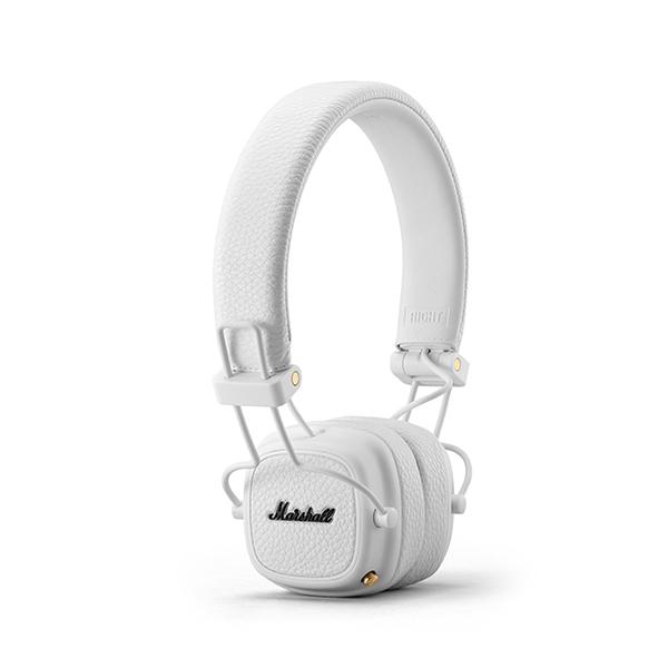 Ασύρματα ακουστικά Marshall Major III bluetooth σε λευκό