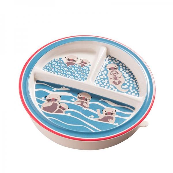 Παιδικό πιατάκι με τρία χωρίσματα από τη σειρά Baby Otter της Sugarbooger