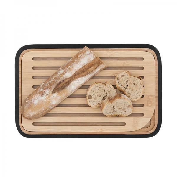 Σανίδα κοπής και σερβιρίσματος ψωμιού με κατασκευή από μπαμπού της Pebbly