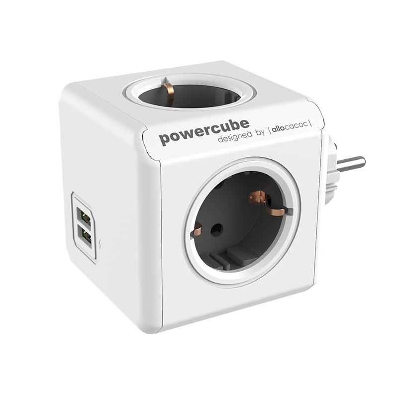 Πολύμπριζο PowerCube Original με USB της ALLOCACOC