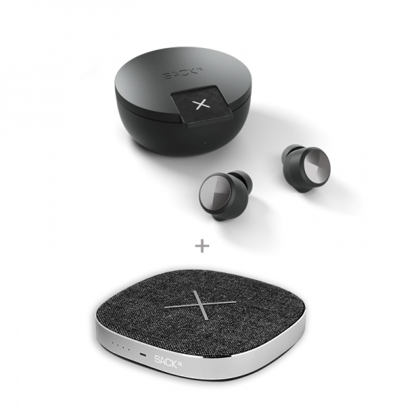 Bluetooth ακουστικά ROCKit & ασύρματος φορτιστής -powerbank της SACKit