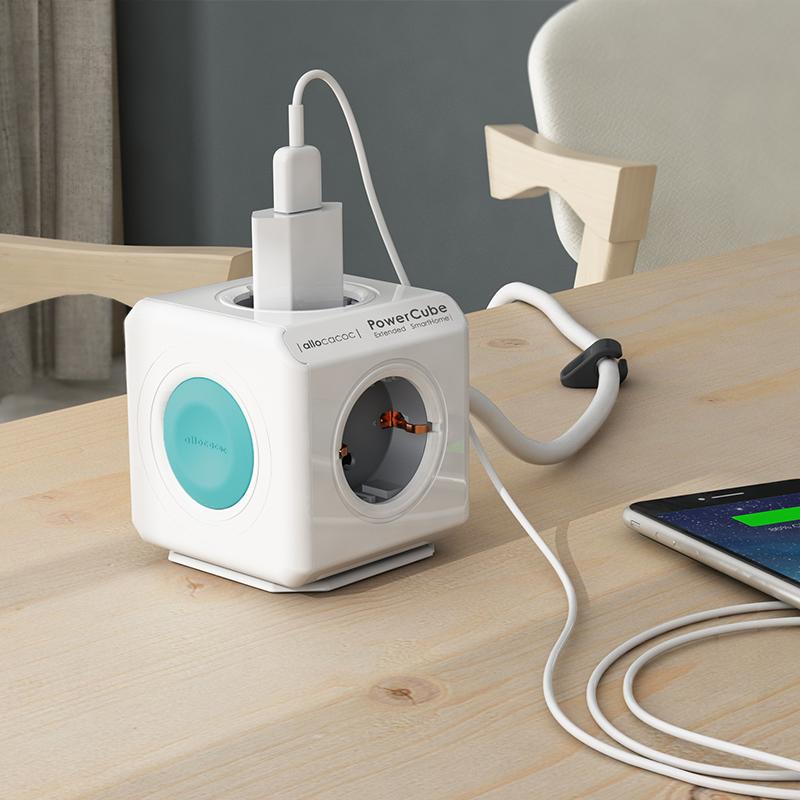 Πολύπριζο PowerCube Extended Smarthome της Allocacoc