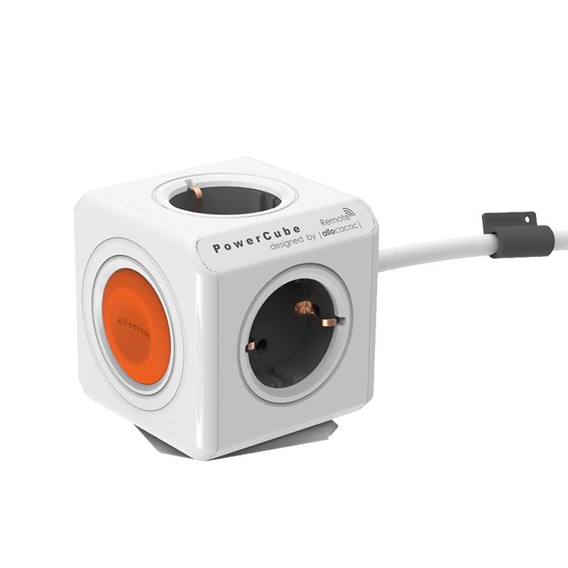 Πολύπριζο PowerCube Extended Remote Single της Allocacoc με δυνατότητα απομακρυσμένου ελέγχου